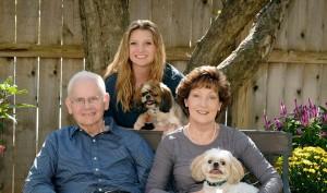 Kansas Representative Brenda Dietrich with her Family