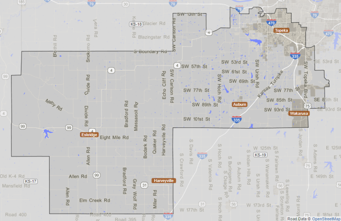 Map of Kansas Senate District 20 from the Statistical Atlas